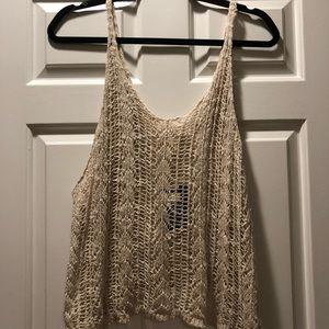 Urban crochet knit tank top